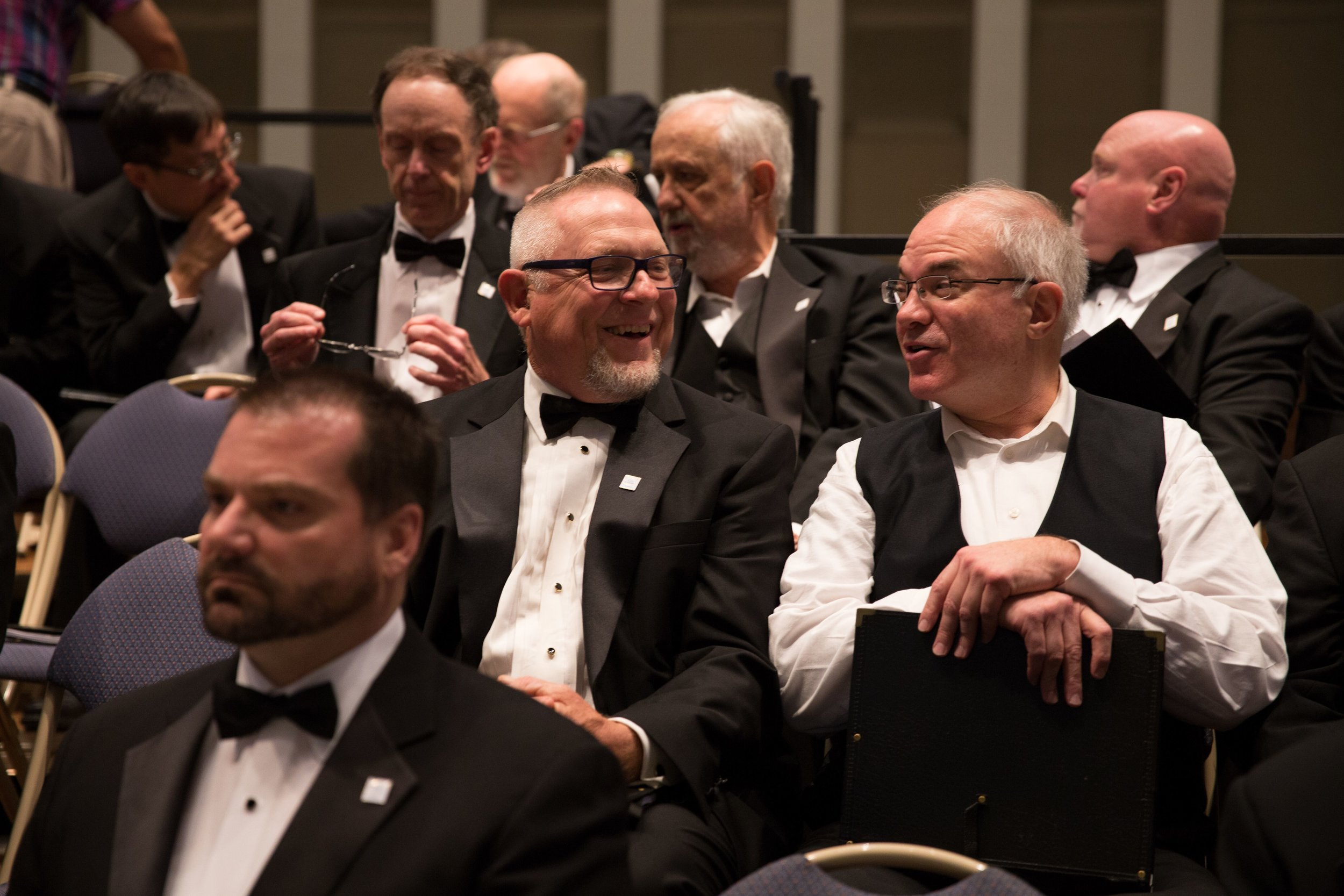 November 2017, tenors enjoy some downtime before the concert