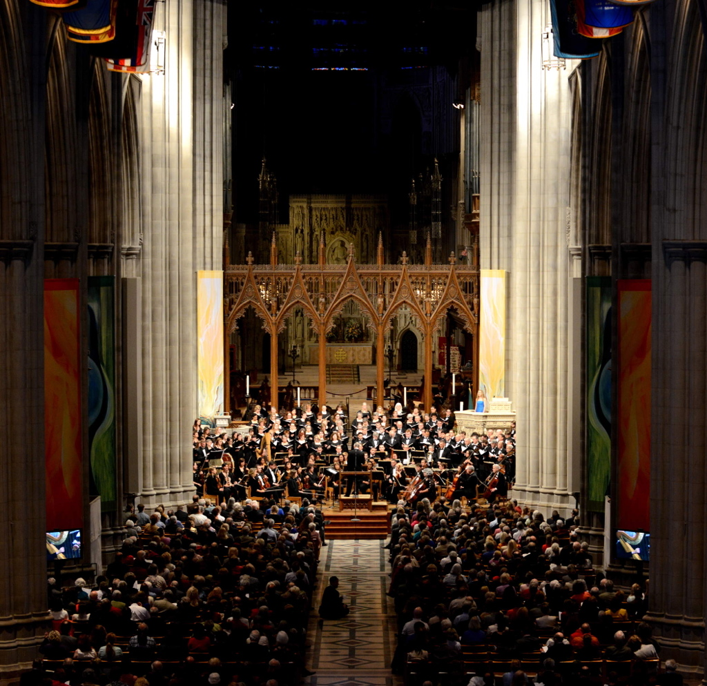 "April 2014, ""Diamond Jubilee"" concert at Washington National Cathedral"