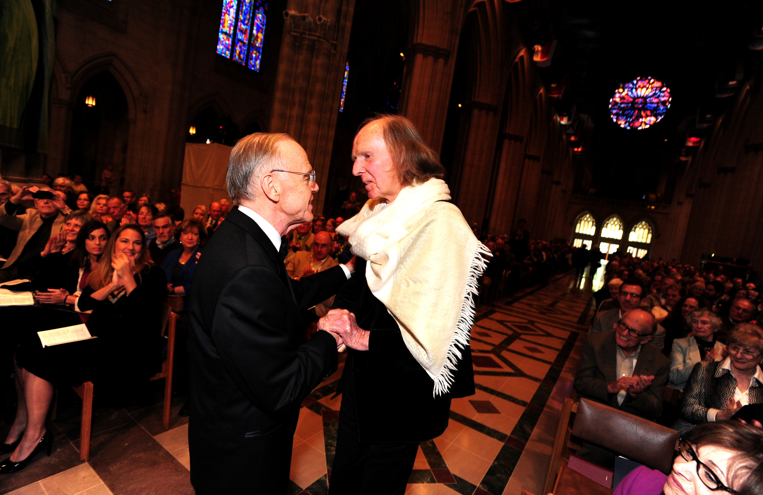 April 2014, Robert Shafer & Sir John Tavener
