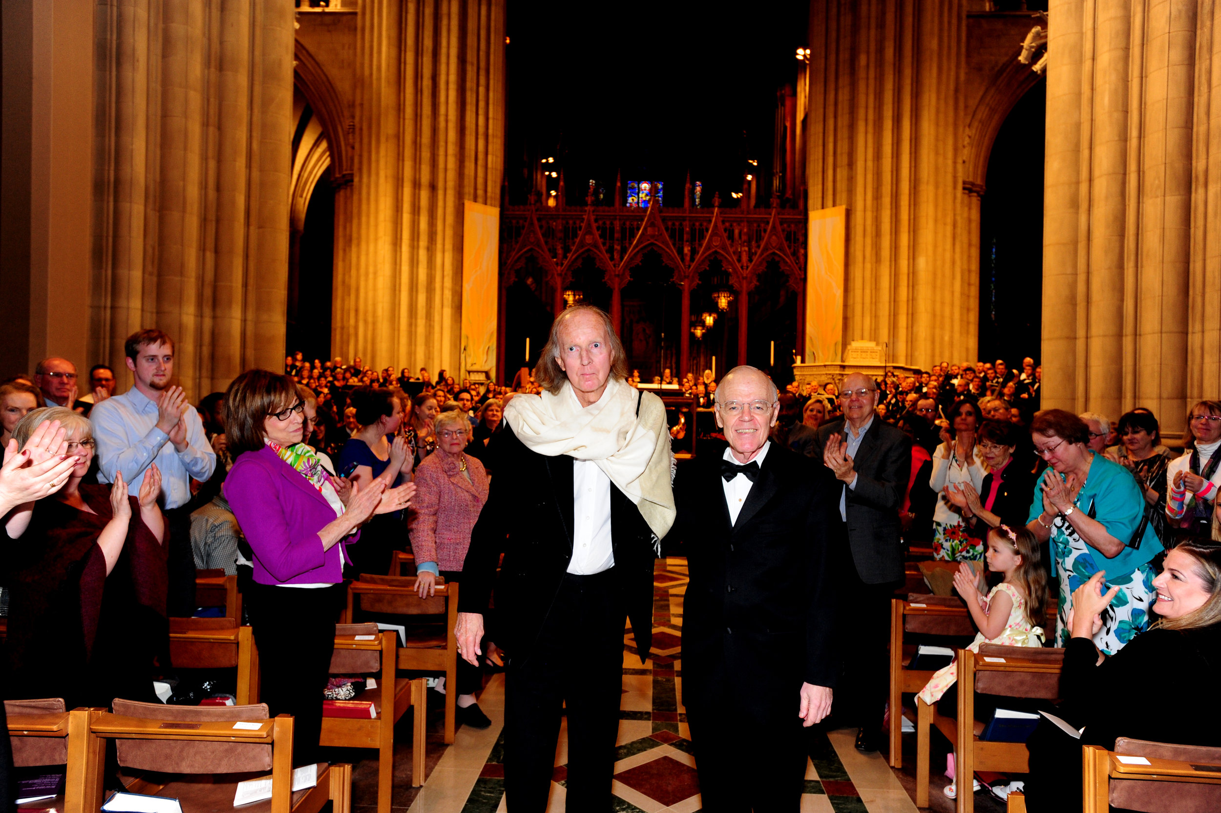April 2014, Sir John Tavener & Robert Shafer