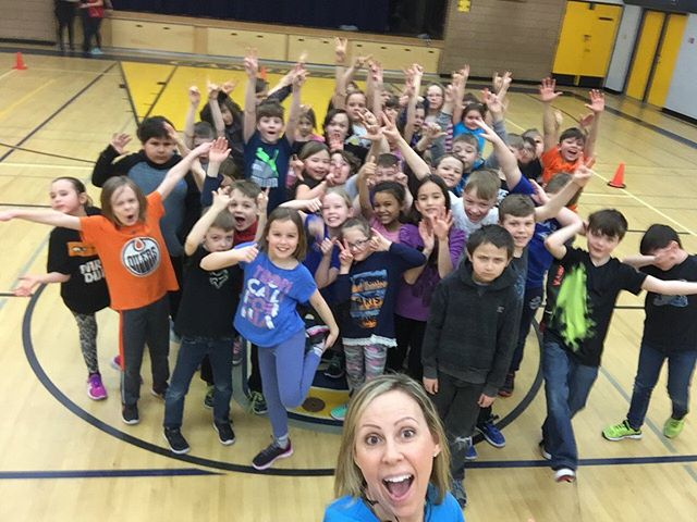 Hands up if you're having as much fun as Tracy with the kids at Camilla Elementary School!  #Pl3yeducation #dancepl3y #physicalliteracy #mentalhealth