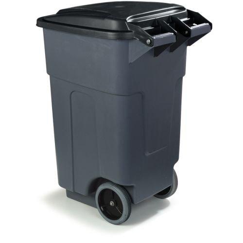 Trash Bin Located On Patio