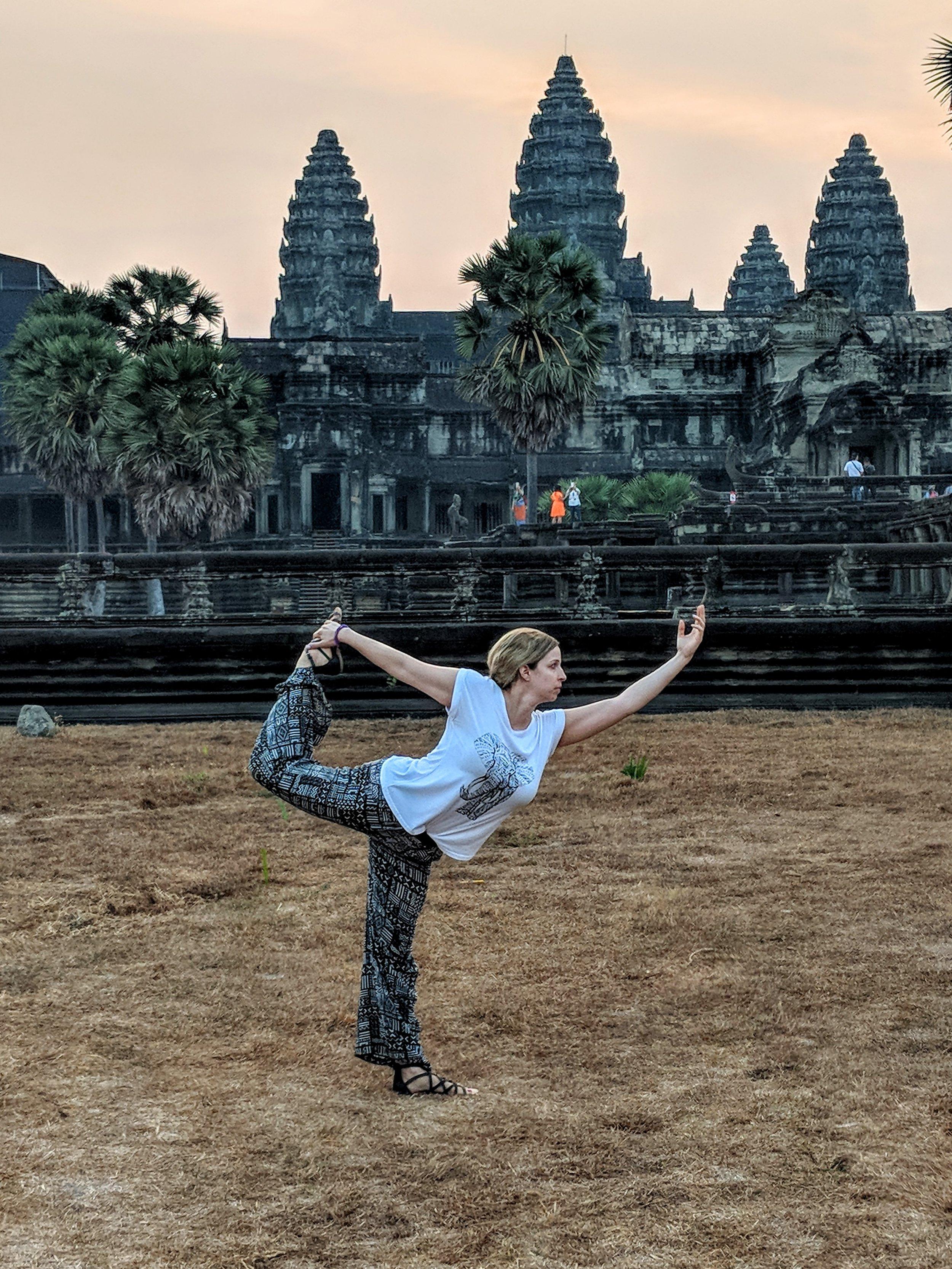 Retreat scouting at Angkor Wat in Cambodia