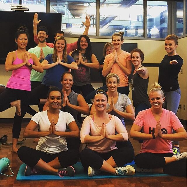Corporate yoga clients in 2016