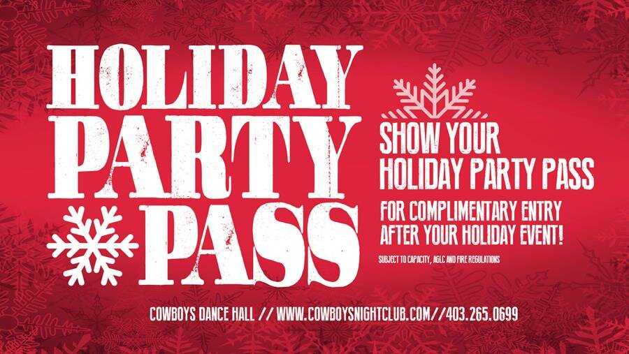 HOLIDAY PARTY PASS 2019