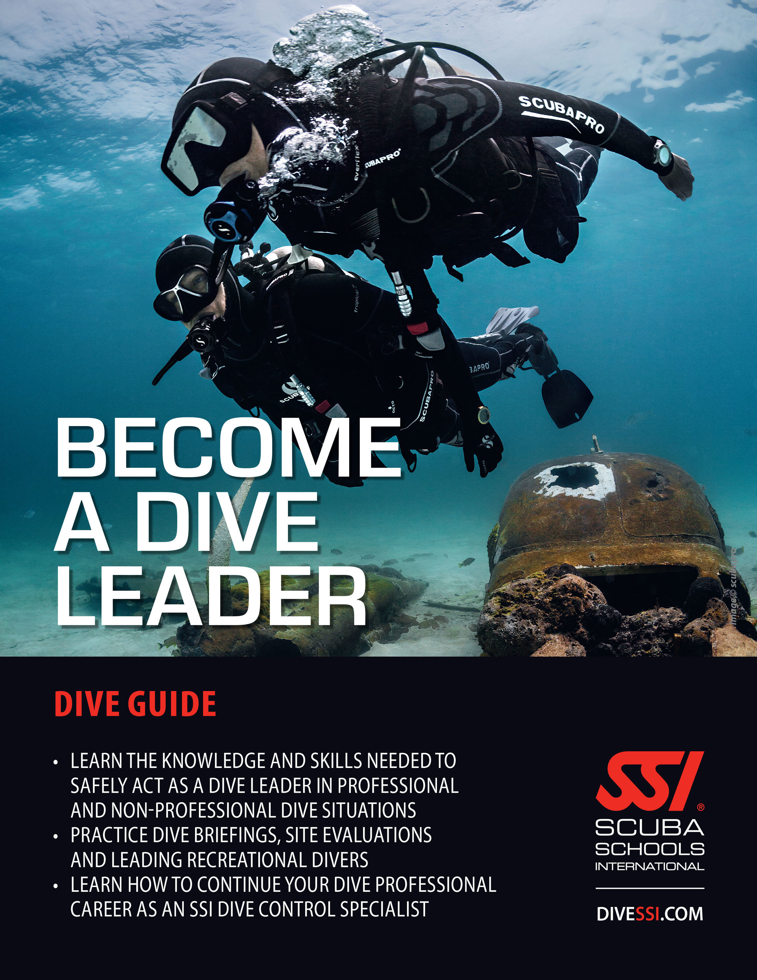 become a dive pro and help others enjoy the underwater world you've come to love as a dive guide, dive master or instructor.
