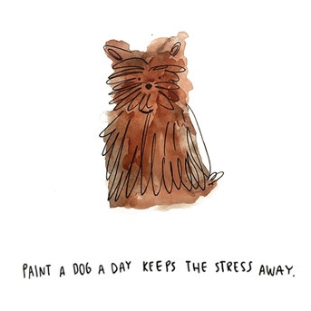 A Dog a Day by Andrea Cáceres   Proyecto Personal / Ilustración