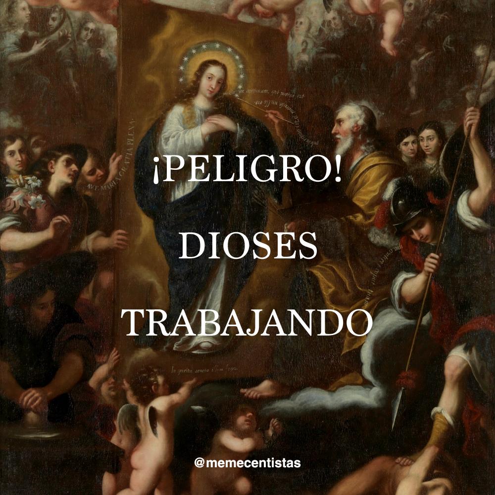 """"""" Dios Padre retratando a la Inmaculada """" (1690) - José García Hidalgo."""