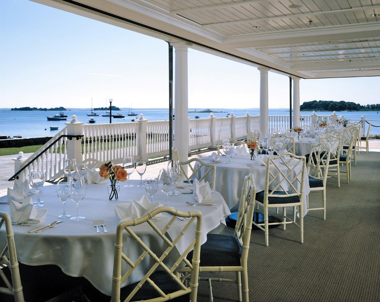 Belle Haven Club dining deck