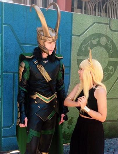 Lorn dressed as Sigyn, Loki's wife.
