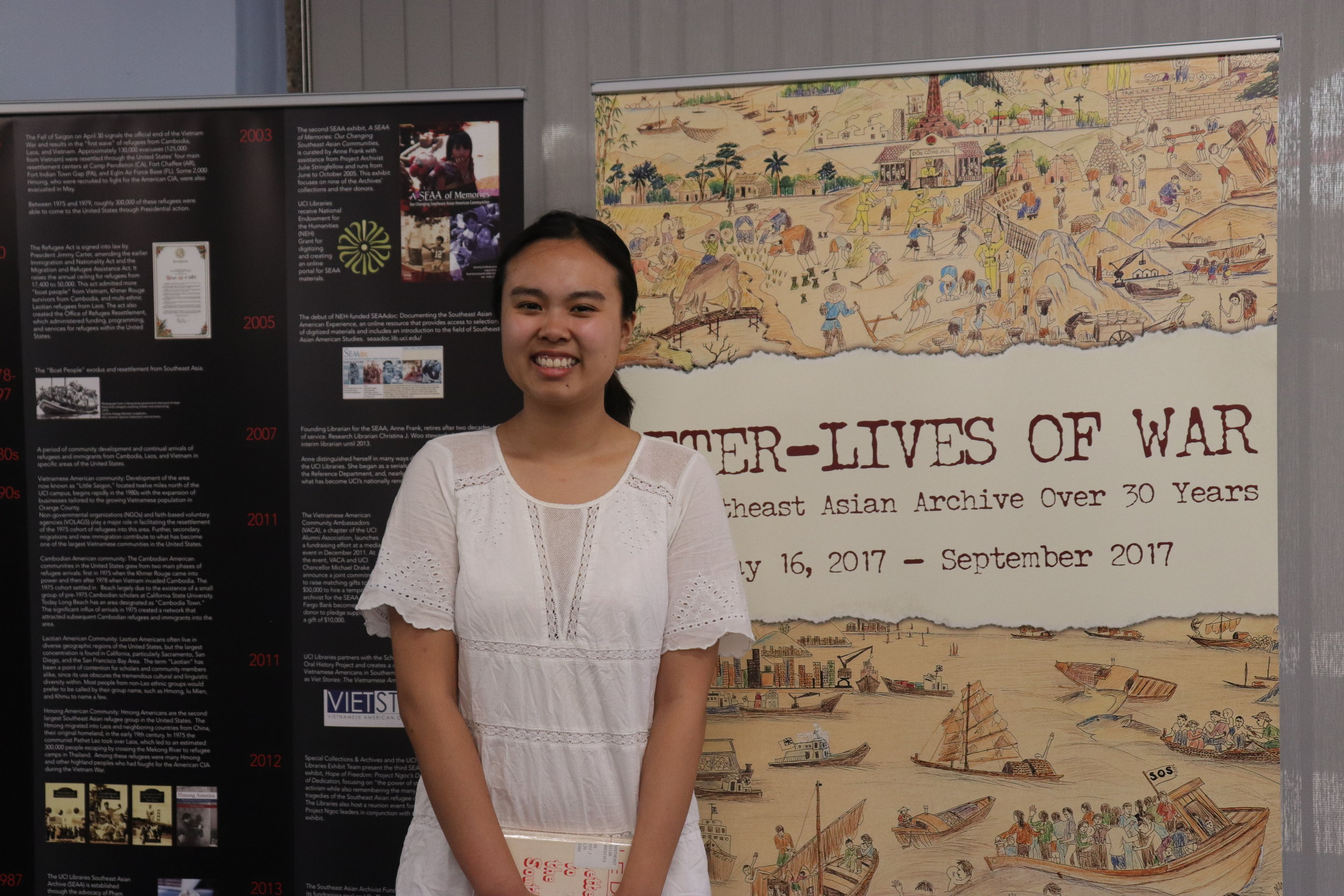 Vian Nguyen, student assistant, Orange County Southeast Asian Archive.