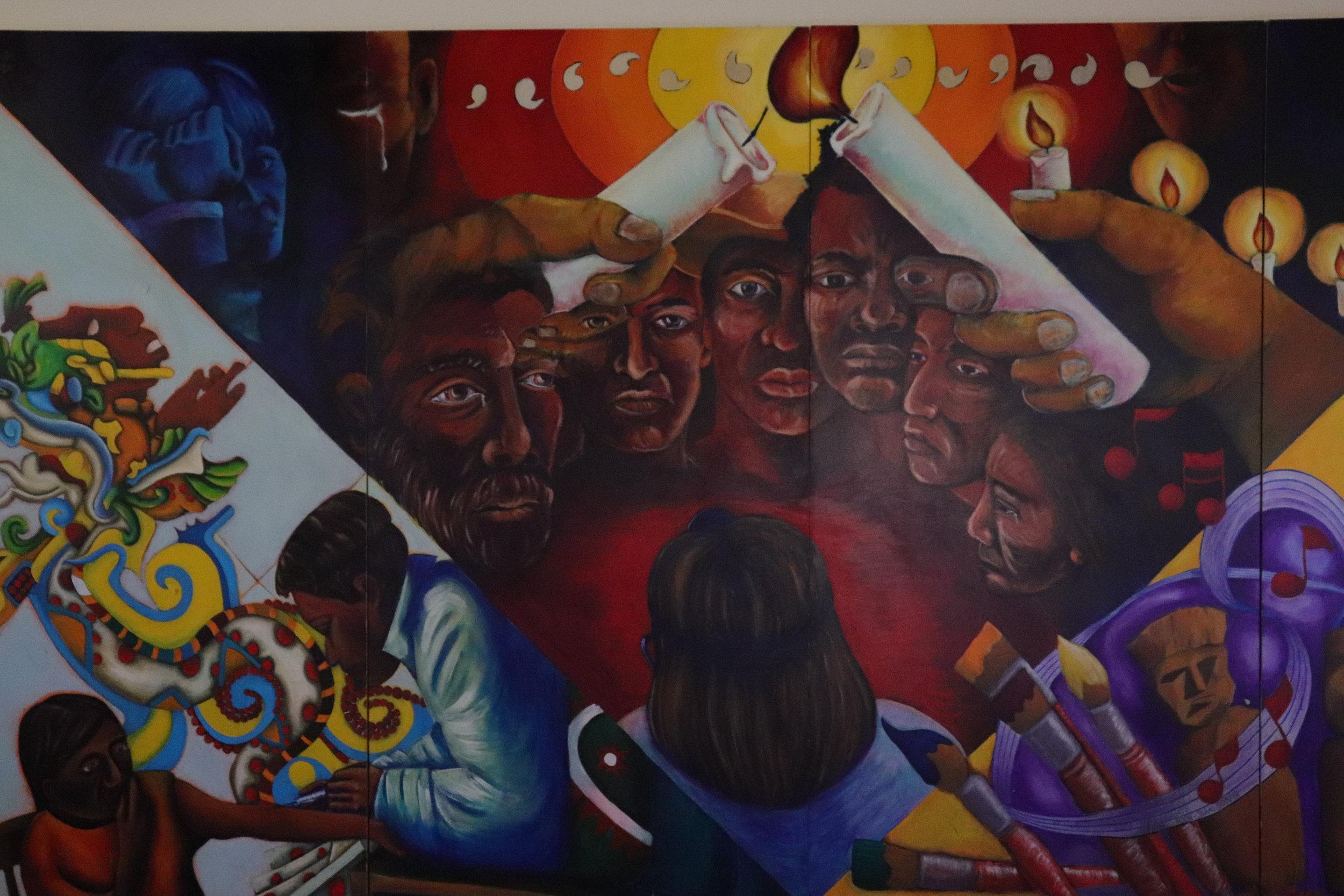 Cross-Cultural Center mural.
