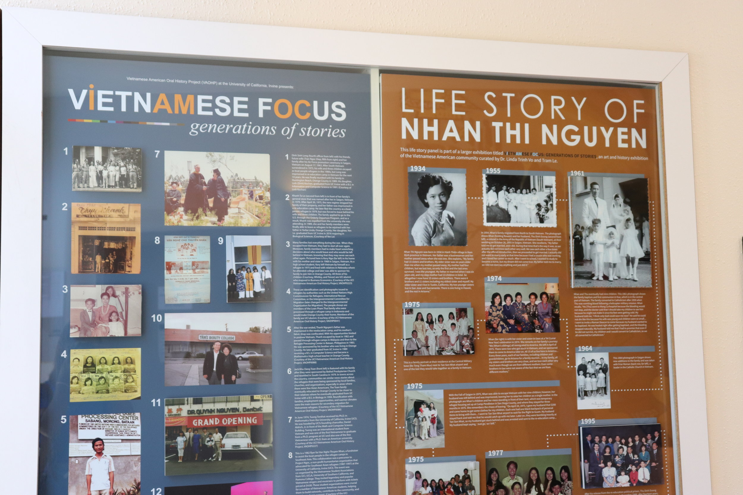Vietnamese Cross-Cultural Center display.