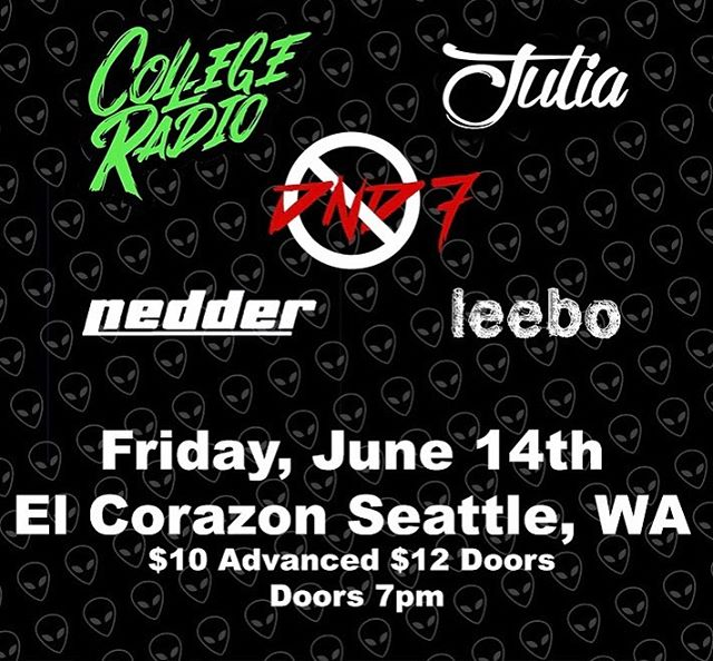 It's not too late to get your tickets to our show next Friday in Seattle at @elcorazonseattle. You can find them on our website dnd7rocks.com. We'll see you there 🤘🏻👽🖤