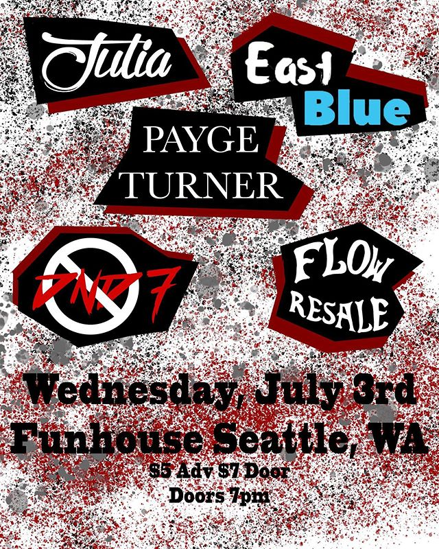 SEATTLE! We are back next week, July 3rd at the Funhouse! Get your tickets now online! We can't wait to party again with you! @the.band.julia @flowresale  @paygeturnermusic @funhouseseattle