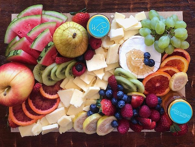 Nothing says summer like a fruit and cheese board! #☀️ . . . . . . #summer #freshfruit #fruitandcheese #denver #vegetarian #denverfoodie #partyfood #picnic #🧀 #treatyoself #freshfood #eatyourcolors #frontrange #happyhour #fruitporn #denvercolorado