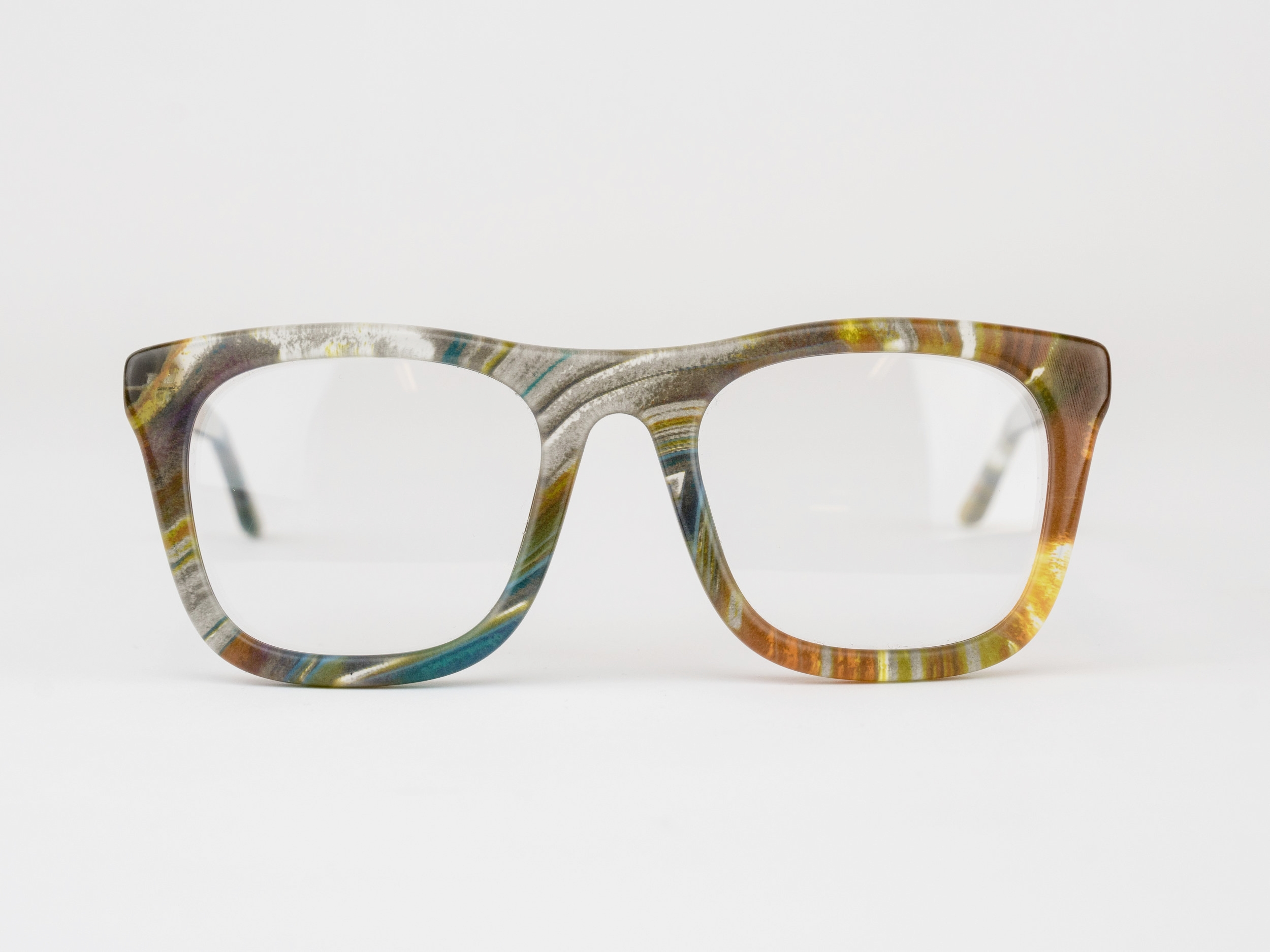 Fleming - The Fleming is a statement-making square frame inspired by the creator of standard time.Available in any color or pattern that your heart desires.