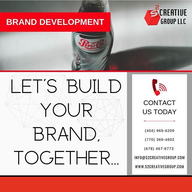 Brand development is the process of creating and strengthening your professional services brand. As we help develop your brand, we divide the process into three phases. The first phase is getting your brand strategy right and aligned with your business objectives... Contact Us Today... Make Your Brand, Our Business... . . . . #s2creativegroup #brandDevelopment #brandDeveloper #rebranding #branding #creativespace #atlbranding #atlbrandingcompany #atlbranddevelopment #pepsicola