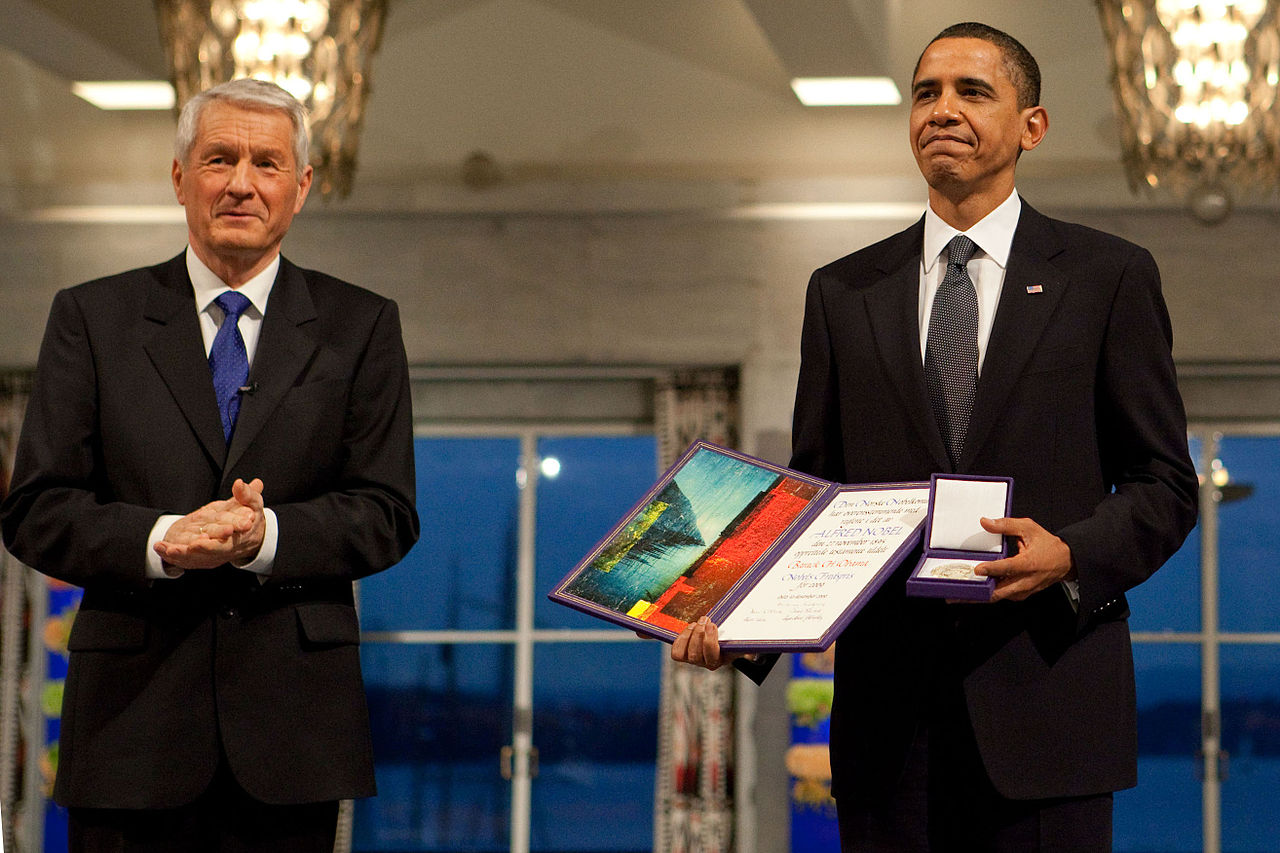 The Nobel selection committee awarded the 2009 Peace Prize to Barack Obama to empower him to pursue a foreign policy conceived according to progressive values.