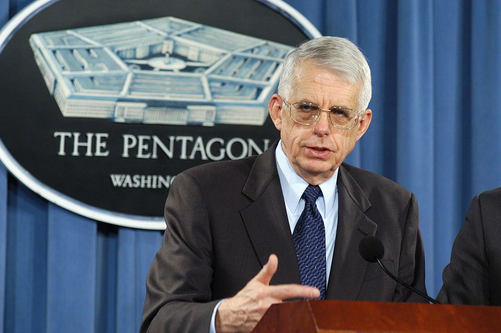 "The Pentagon's claims of job creation aren't limited to the home front. See this Department of Defense photo release: ""Director of the Iraq Program Management Office David Nash briefs reporters in the Pentagon on March 10, 2004, about some of the contracts that have been awarded for reconstruction projects in Iraq. Incentives to hire Iraqi citizens for much of this work have been written into the contracts. In this way the U.S. can provide the dual benefits of infrastructure enhancement as well as jobs to the fledgling democracy."" / Creative Commons"