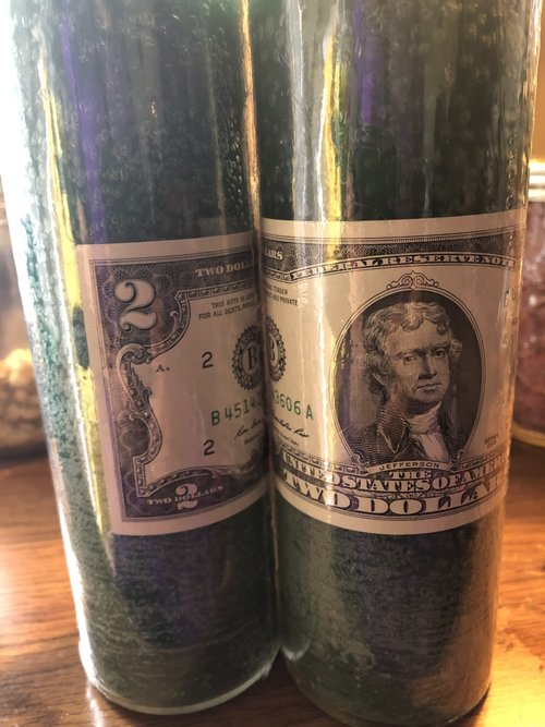 Money Candle and 1/2 oz of Fast Money Oil — Hoodoo Hannah