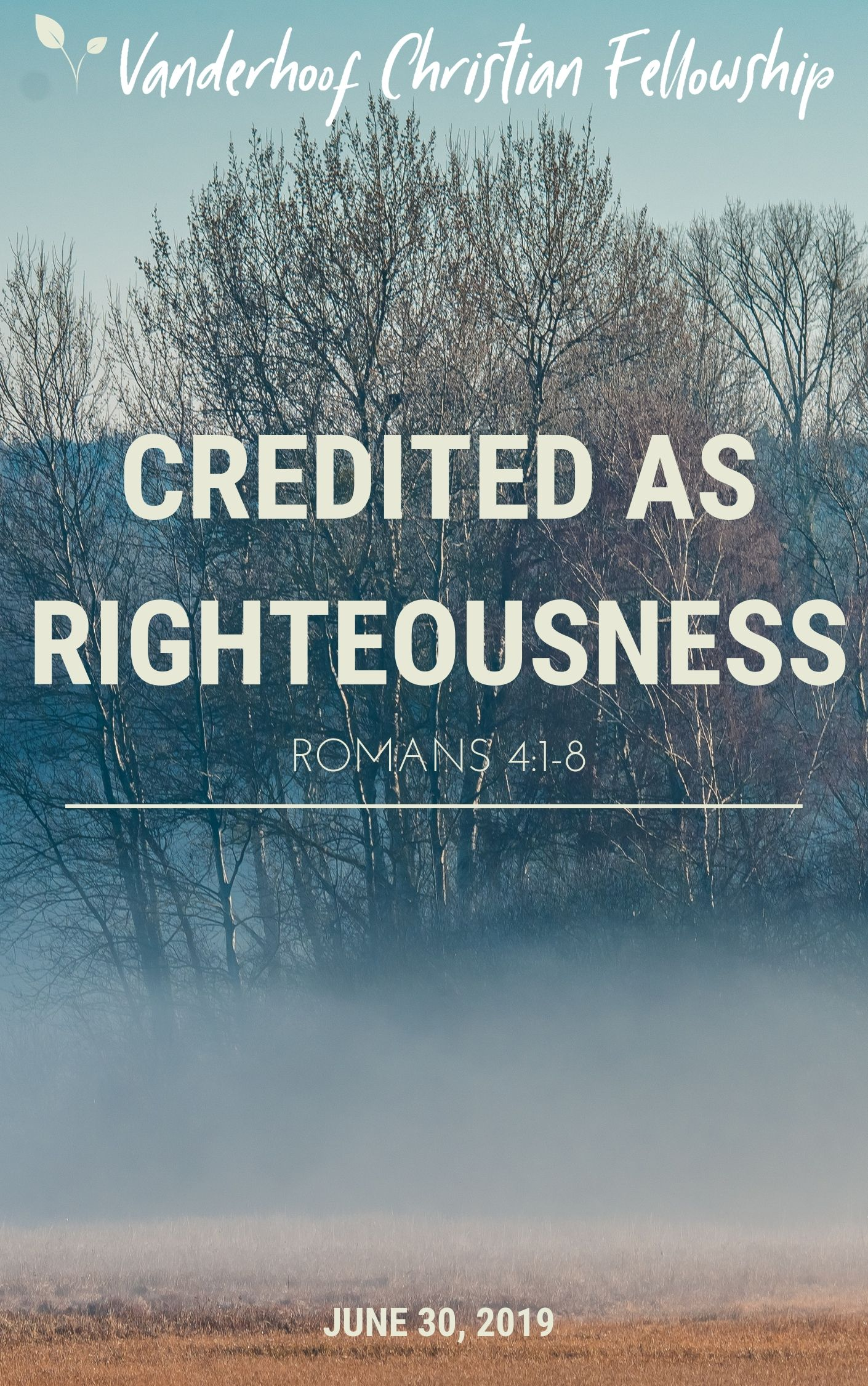 Credited as Righteousness