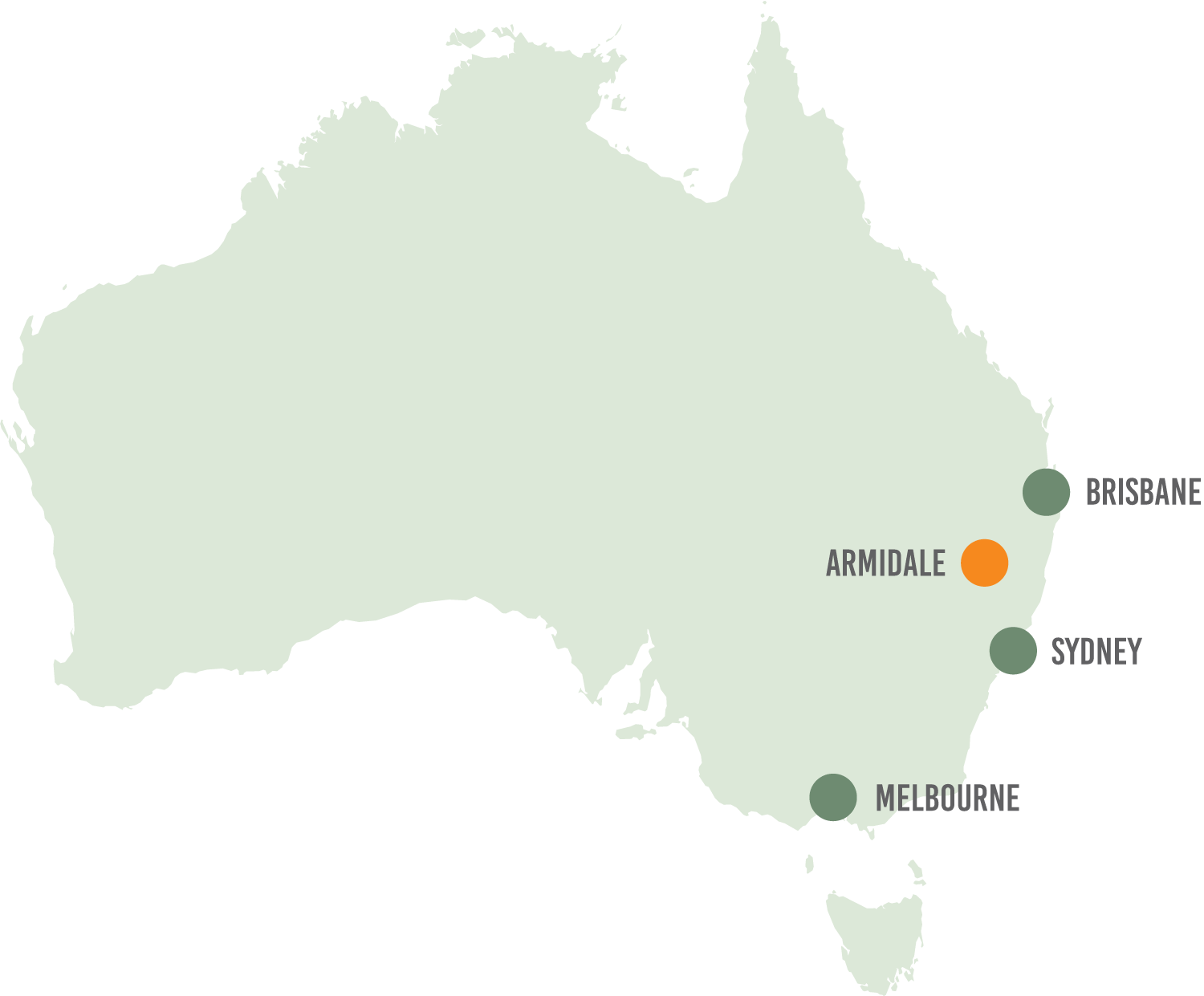 Armidale is a one-hour flight from Sydney and Brisbane