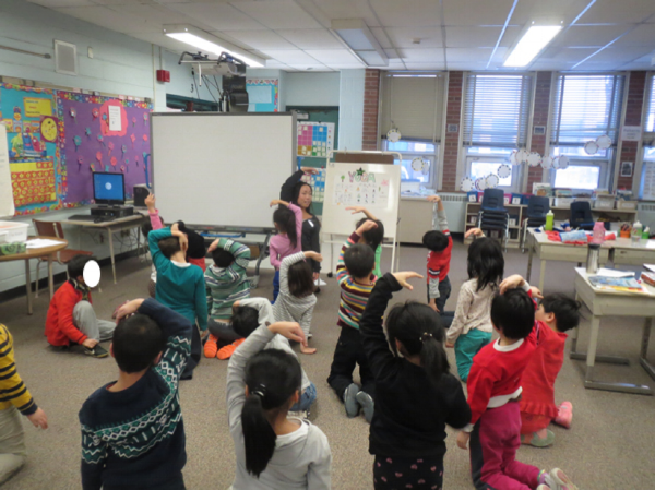 Delivered a yoga lesson to a grade 1/2 class to enhance students' socio-emotional, physical, and language skills