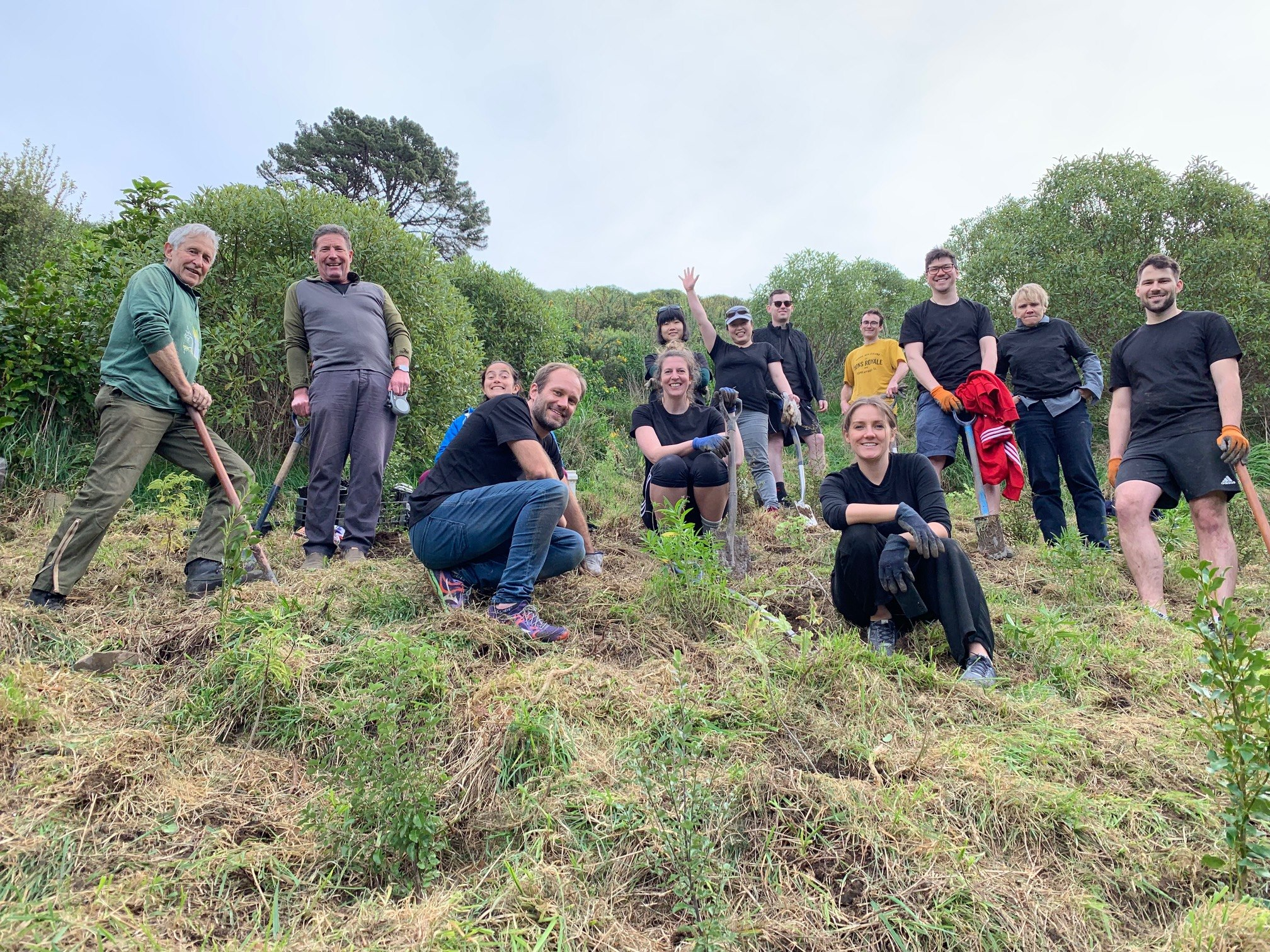 Tennett Brown Architects with Chris Livesey planting the bottom of the goat paddock.