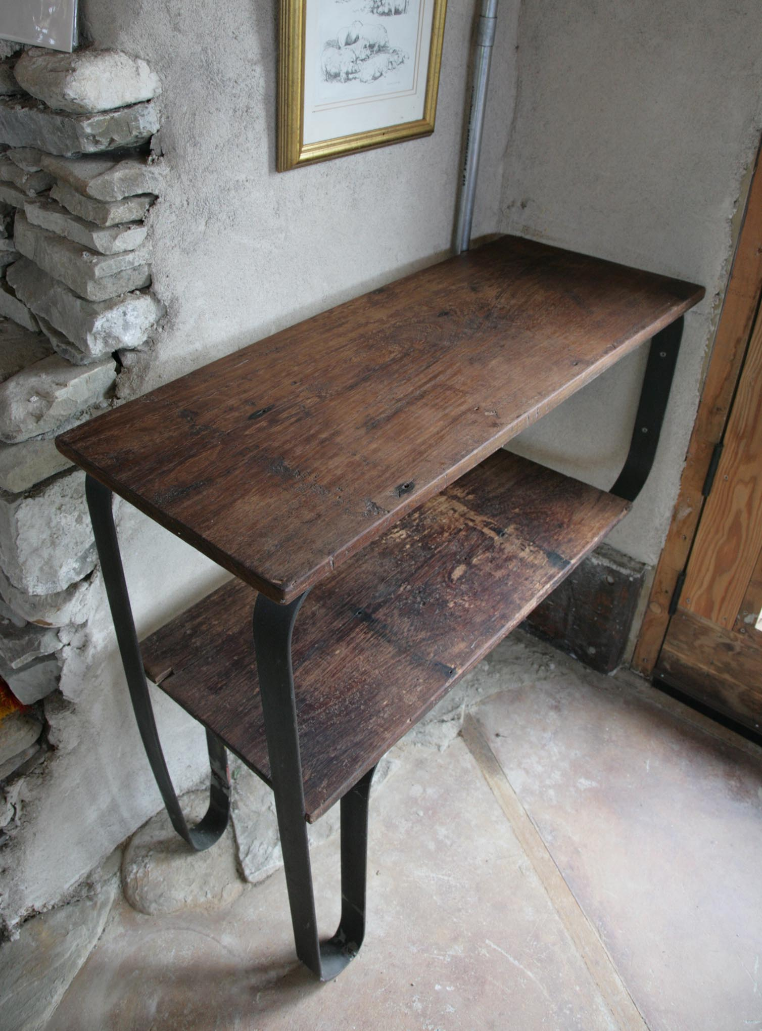 Coffee Station: Salvaged Teak / Steel