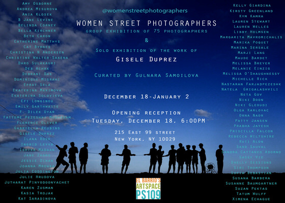 Invitation to the first Women Street Photographer Group Exhibition Opening