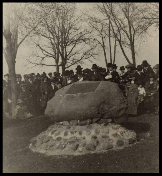 Allouez Marker Dedication in Menominee Park - 1920