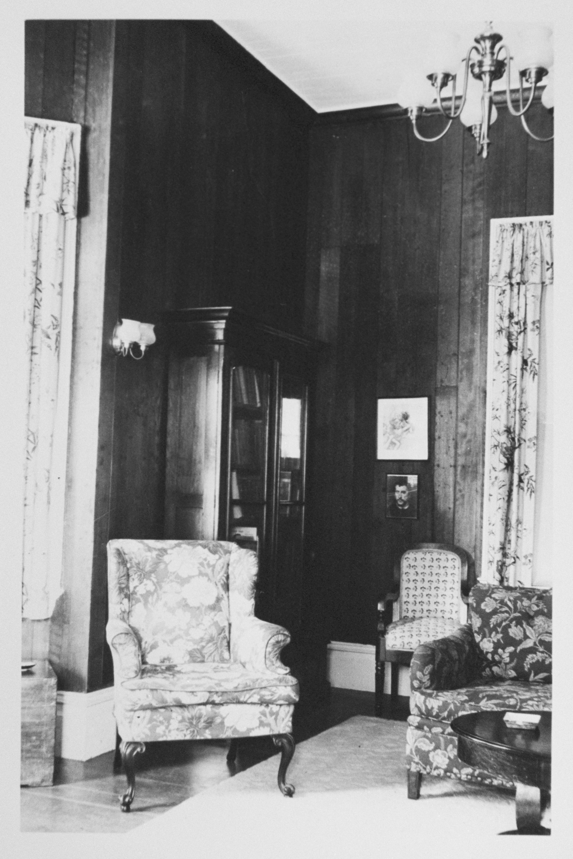 Interior of Peter Coutts's house