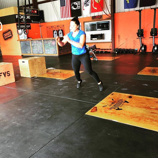 Saturday's workout #burpees #broadjumps #tireflips #ringrows #cfvs #crossfit #valleysprings