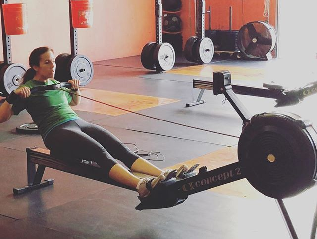 Be stronger than your excuse!#crossfitchicks #committobefit #rowing #cfvs #crossfitvalleysprings #cardio #valleysprings
