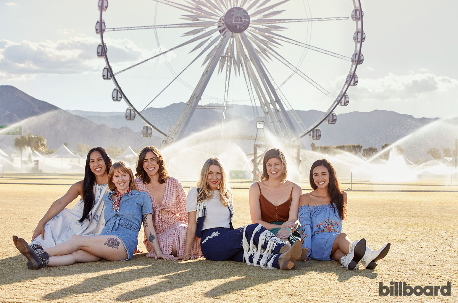 """My whole Stagecoach [leadership] team is women in charge,"" says Vee, who was photographed with her team on April 23, 2019 at the Stagecoach festival in Indio, Calif. From left: Mapi Moran, Amanda Gray, Lindsay Lyons, Vee, Shea Kopp and Sabrina Sarmiento.  Sami Drasin"