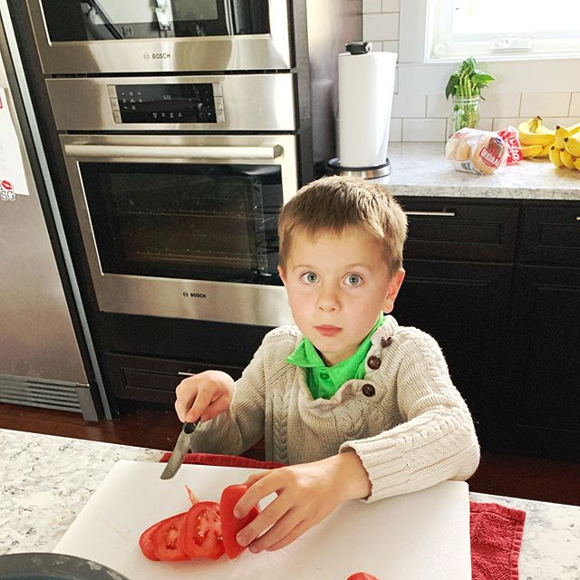 Little Mister loves cooking. You just never know what he will be whipping up! He loves making the family scrambled eggs in the morning, and they are delish. However; I wouldn't recommend drinking any of his smoothies bc he empties the fridge into them. 😬🤭🤣 #therealtabithaanderson #momsquad #whatsfordinner #kidsinthekitchen #tomatoeswithsaltandpepper #everydaymoments #myshadow #teachthemwell #familiesareforever #kidscooking #healthysnacking
