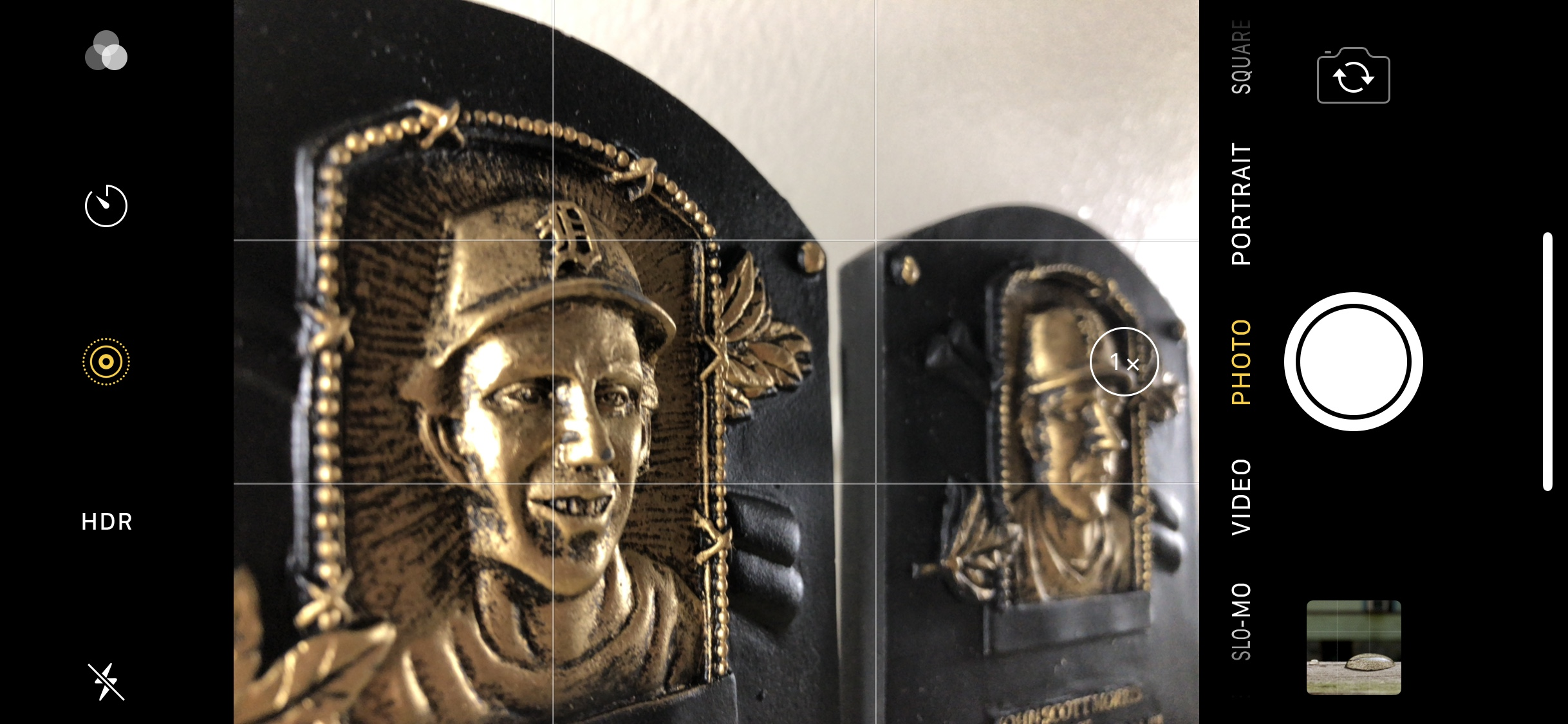 Learn how to change the settings on both the left and right of the your camera. Helps when taking photos and videos of something like actual baseball players, not their statues.