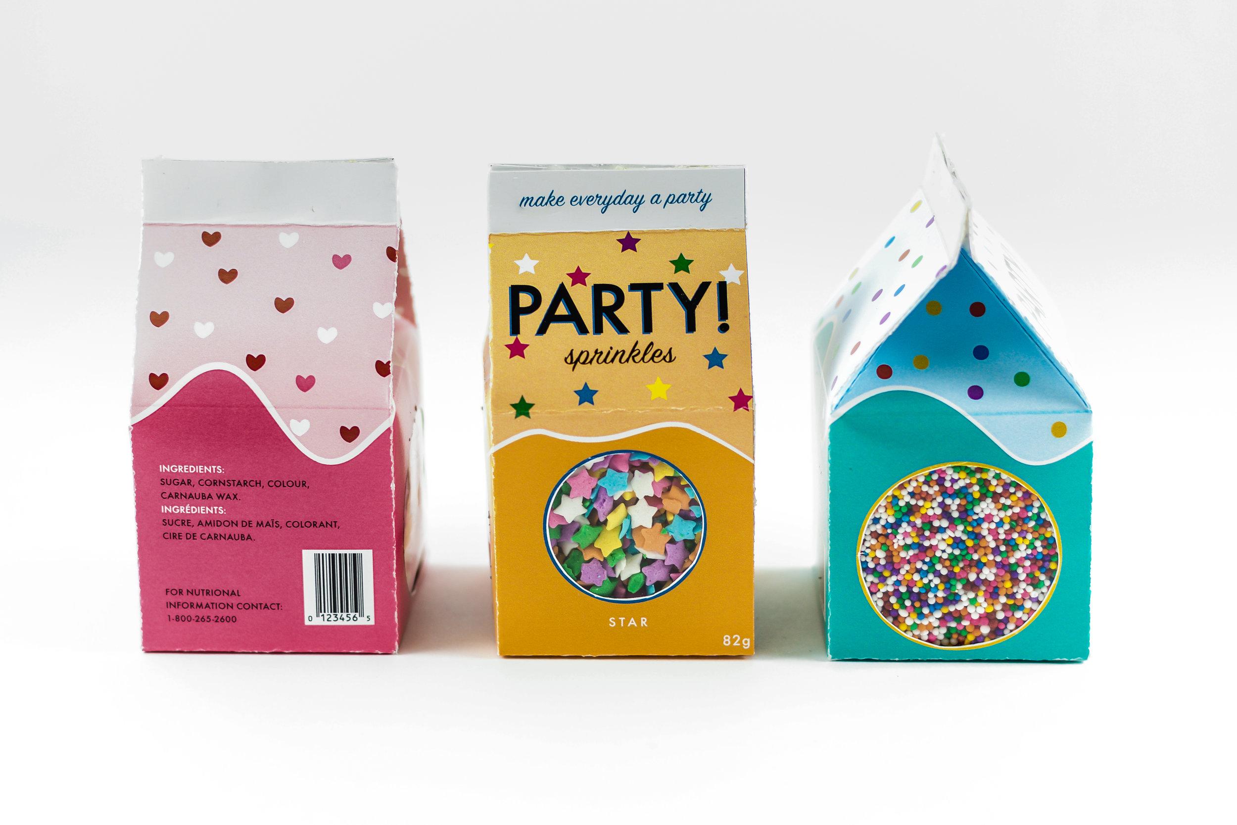 PARTY! Sprinkle Package Design Series