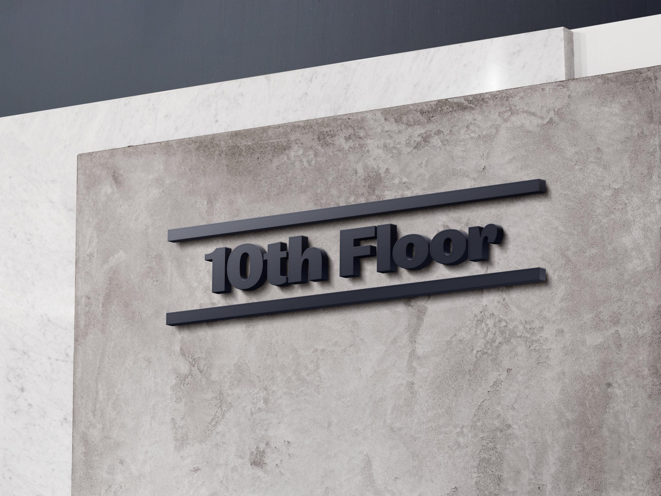 Zero West: floor number sign