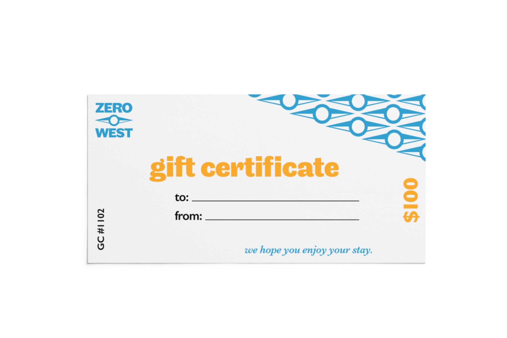Zero West: Giftcard Design