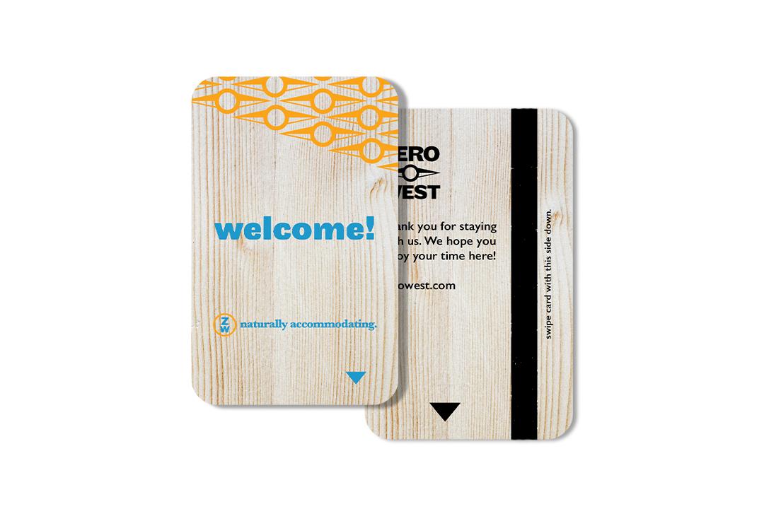 Zero West: Wooden Keycard Design
