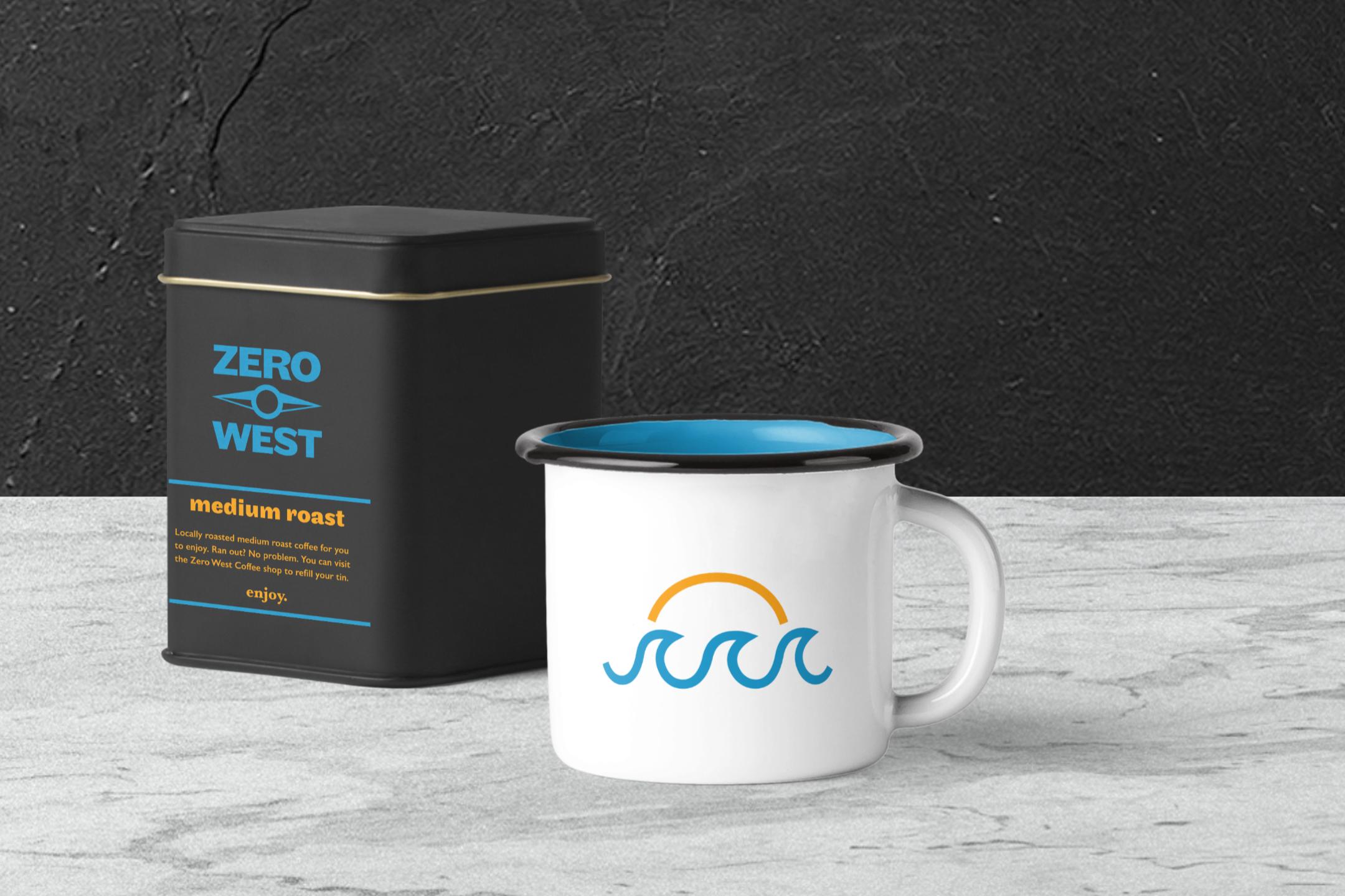 Zero West: Coffee tin and mug