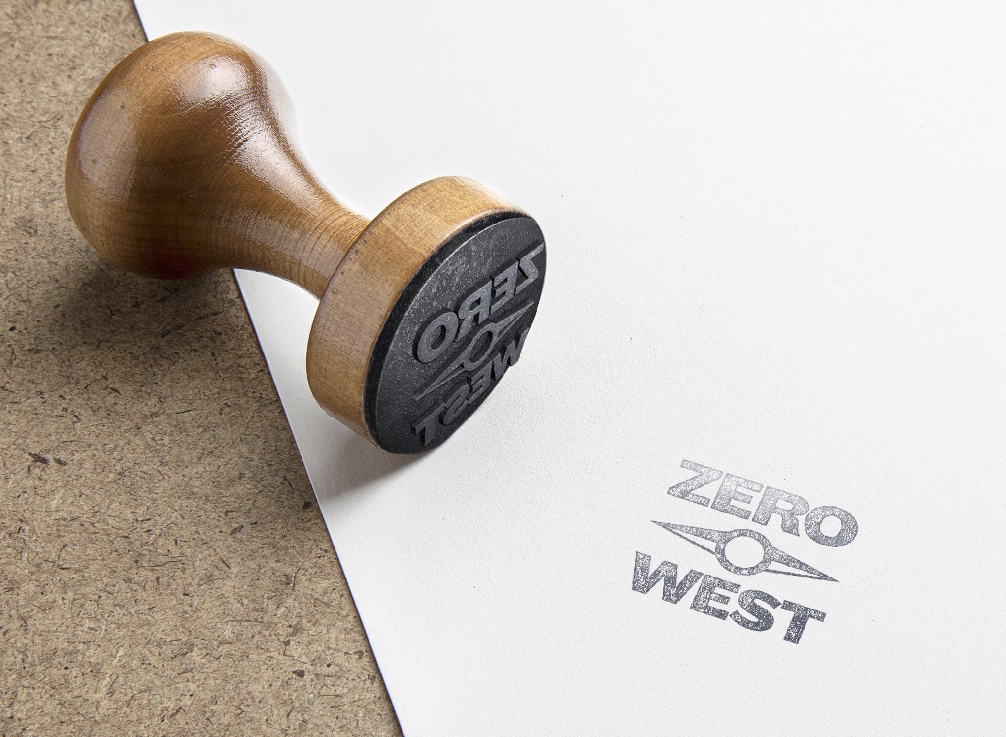 Zero West: Logo Stamp