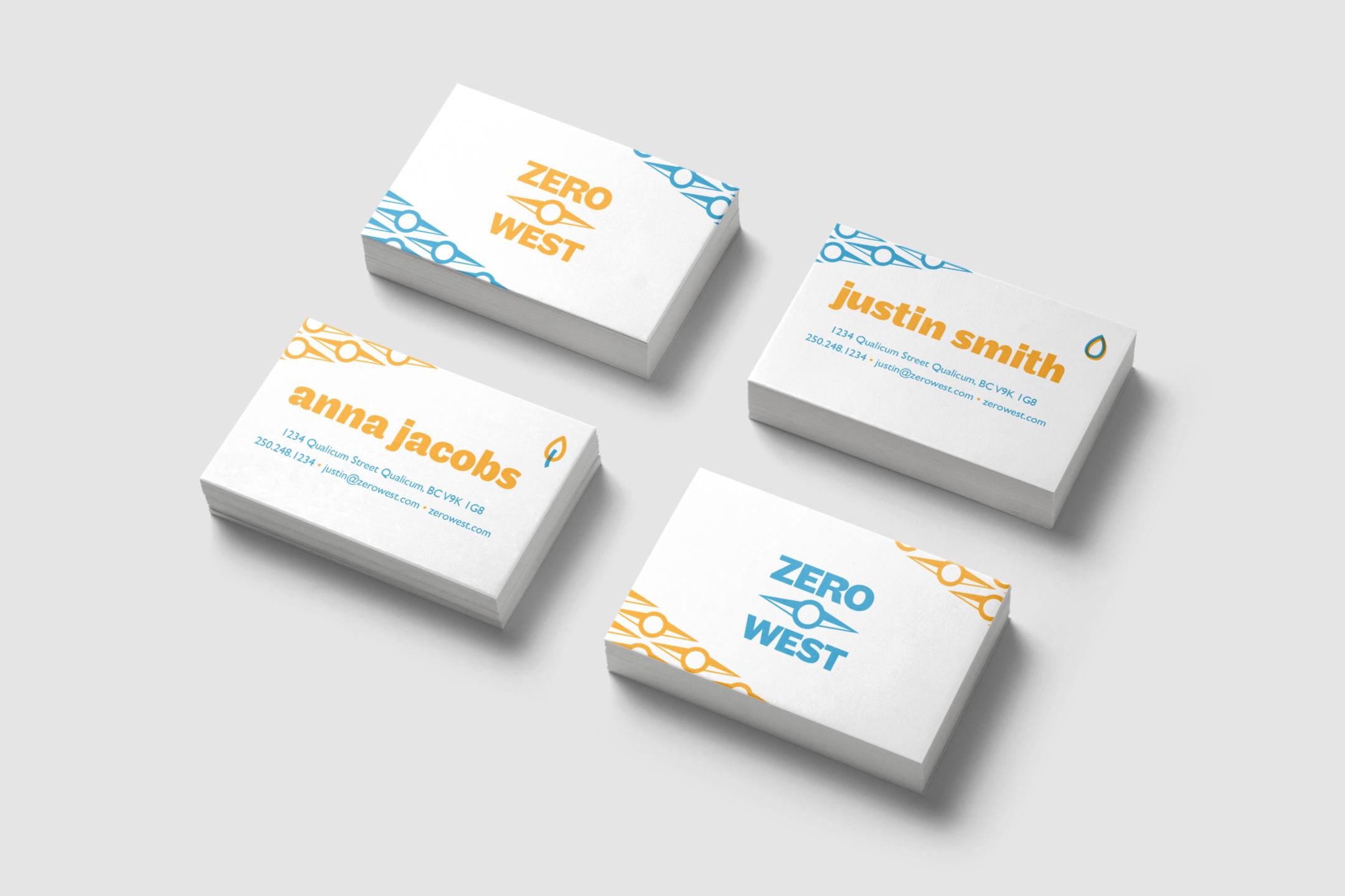 Zero West: Business Card Design