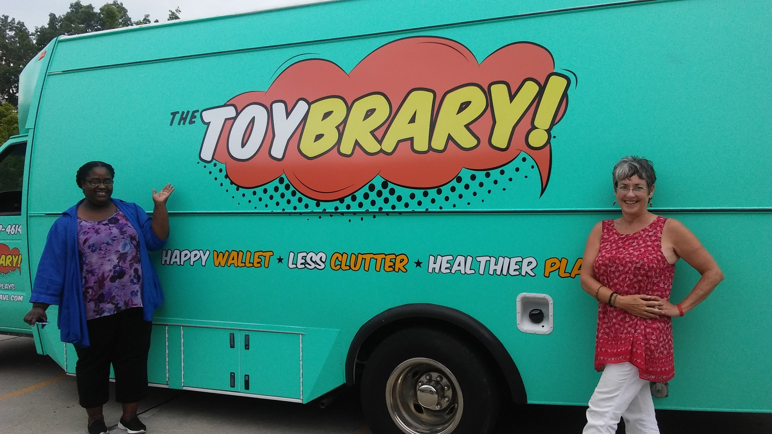 - The Toybrary of Asheville is thrilled to announce our mobile unit will be cruising through our community encouraging us all to unplug and play!
