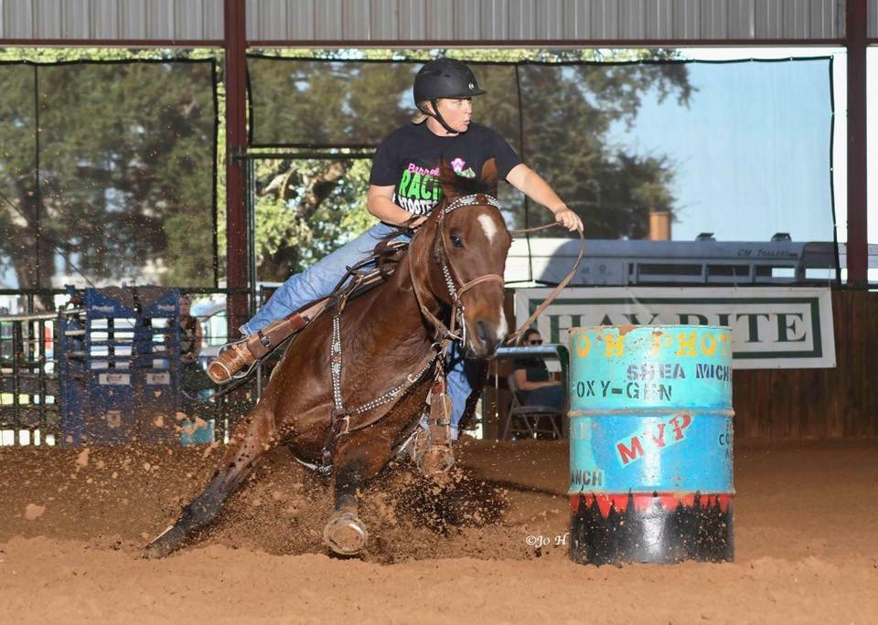 "Carey Benton - ""Jackie has given me my backbone back when it comes to my horses; giving me the confidence and tools I need to become the best jockey and horseman I can be for my horse. She understands that there is so much more to it than just going around barrels. Finding the good in any negative situation and making that your goal to improve. Finding that one thing that will help you get better in the next run."""