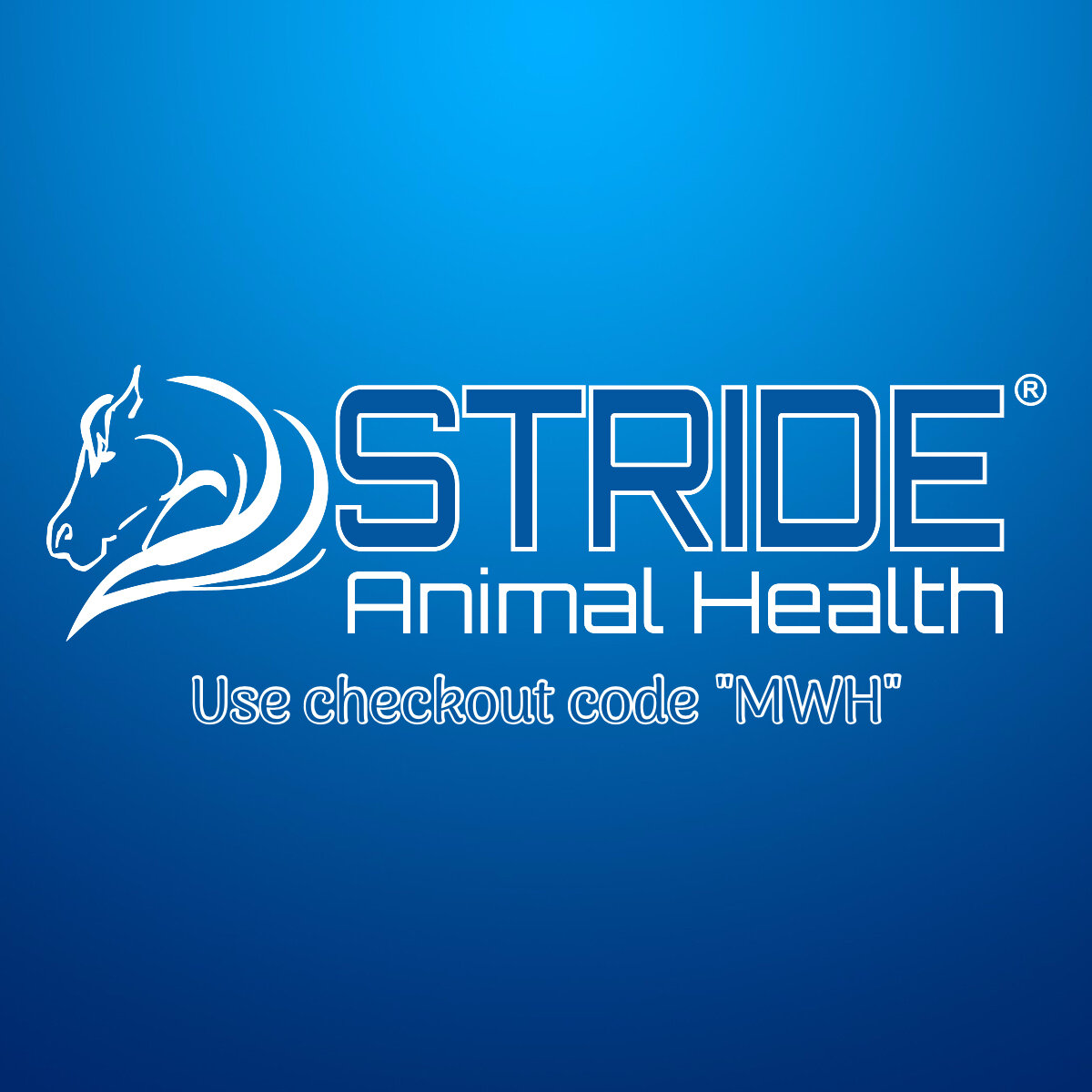 """Stride Animal Health - Use checkout code """"MWH"""" to receive 5% off your online order at StideAnimalHealth.com!There are SO many great products that you can get from Stride Animal Health! A couple of our favorites are the LIFELINE+ Equine and the 21-Day Hind Gut Health Program. We use Lifeline+, an incredibly effective plasma-based supplement, daily on most of the horses on the ranch. The Hind Gut Program worked wonders in turning around a few horses with digestive track issues. You can hear more about these and other great products on our podcasts episodes with Stride's resident guru, Dr. Jyme Nichols. Click the link and head over to the website to get more information!"""