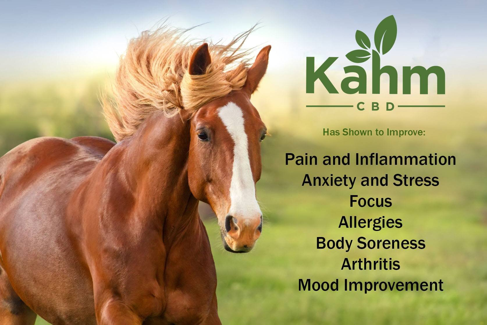 """Kahm CDB - Use checkout code """"MWH"""" at KahmCBD.com to get 10% off of your order!We're BIG fans of CBD! We use it everyday on ourselves, our dogs, and our horses. We LOVE Kahm CBD! Everything is 3rd party tested and all hemp and CBD extracts are hand selected from farms in the USA. We're partial to the oil for ourselves and our dogs. Our horses get pellets daily and oil or a """"B Cool Bite"""" when at a race. We've seen great results! Most of all in our older arthritic dogs and in all of the horses! Click the link for more information and to order yours CBD today!"""