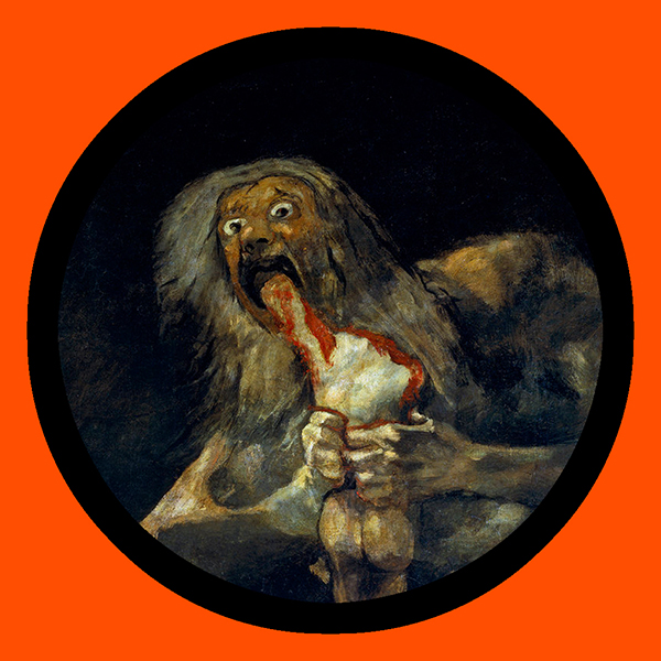 "Art By Francis Goya, ""Saturn Devouring His Son"""